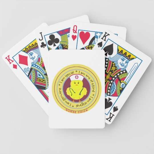 Nurse Chick Bicycle Playing Cards