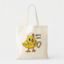 Nurse chick - funny bird cartoon tote bag