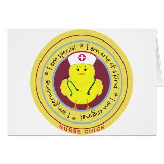 Nurse Chick Greeting Card