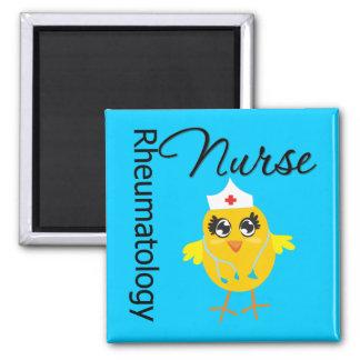 Nurse Chick v1 Rheumatology Nurse 2 Inch Square Magnet