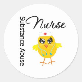 Nurse Chick v1 Substance Abuse Nurse Sticker