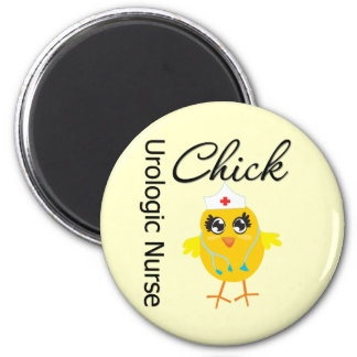Nurse Chick v1 Urologic Nurse 2 Inch Round Magnet