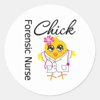 Nurse Chick v2 Forensic Nurse Sticker