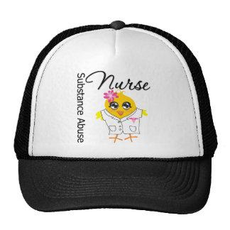 Nurse Chick v2 Substance Abuse Nurse Mesh Hat