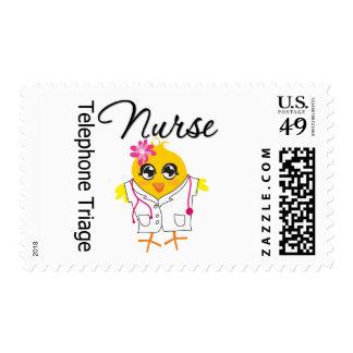 Nurse Chick v2 Telephone Triage Nurse Postage Stamp