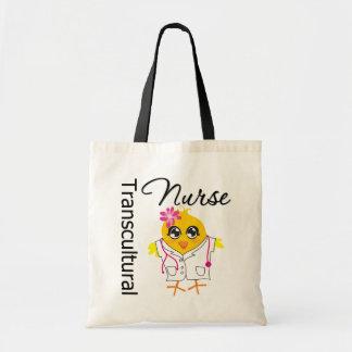 Nurse Chick v2 Transcultural Nurse Canvas Bags