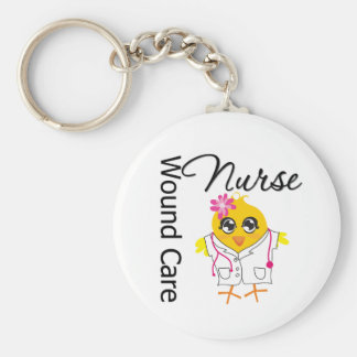 Nurse Chick v2 Wound Care Nurse Basic Round Button Keychain