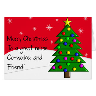 Nurse Christmas Card