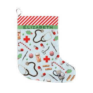Nurse Christmas Collectible Large Christmas Stocking