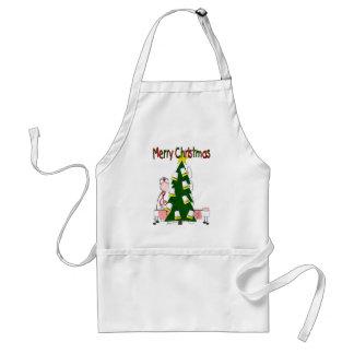 "Nurse Christmas Design ""Merry Christmas"" Adult Apron"
