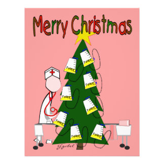 "Nurse Christmas Design ""Merry Christmas"" Flyer"