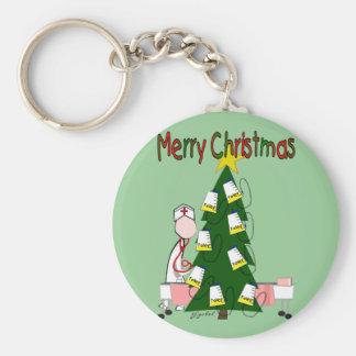 "Nurse Christmas Design ""Merry Christmas"" Keychain"