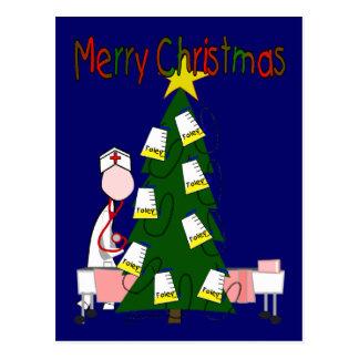 "Nurse Christmas Design ""Merry Christmas"" Postcard"