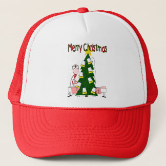 "Nurse Christmas Design ""Merry Christmas"" Trucker Hat"