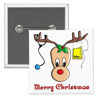 Nurse Christmas Reindeer Gifts Button