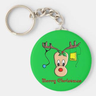 Nurse Christmas Reindeer Gifts Keychain