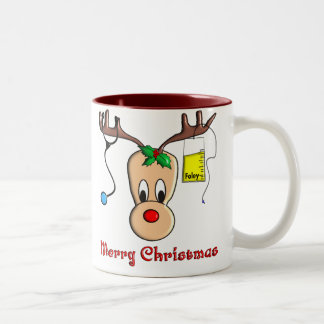 Nurse Christmas Reindeer Gifts Coffee Mug