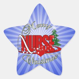 NURSE CHRISTMAS XMAS STAR STICKER