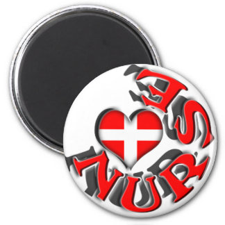NURSE CIRCULAR LOGO WITH HEART AND CROSS SYMBOL MAGNET
