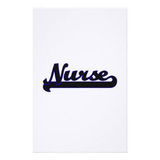 Nurse Classic Job Design Stationery