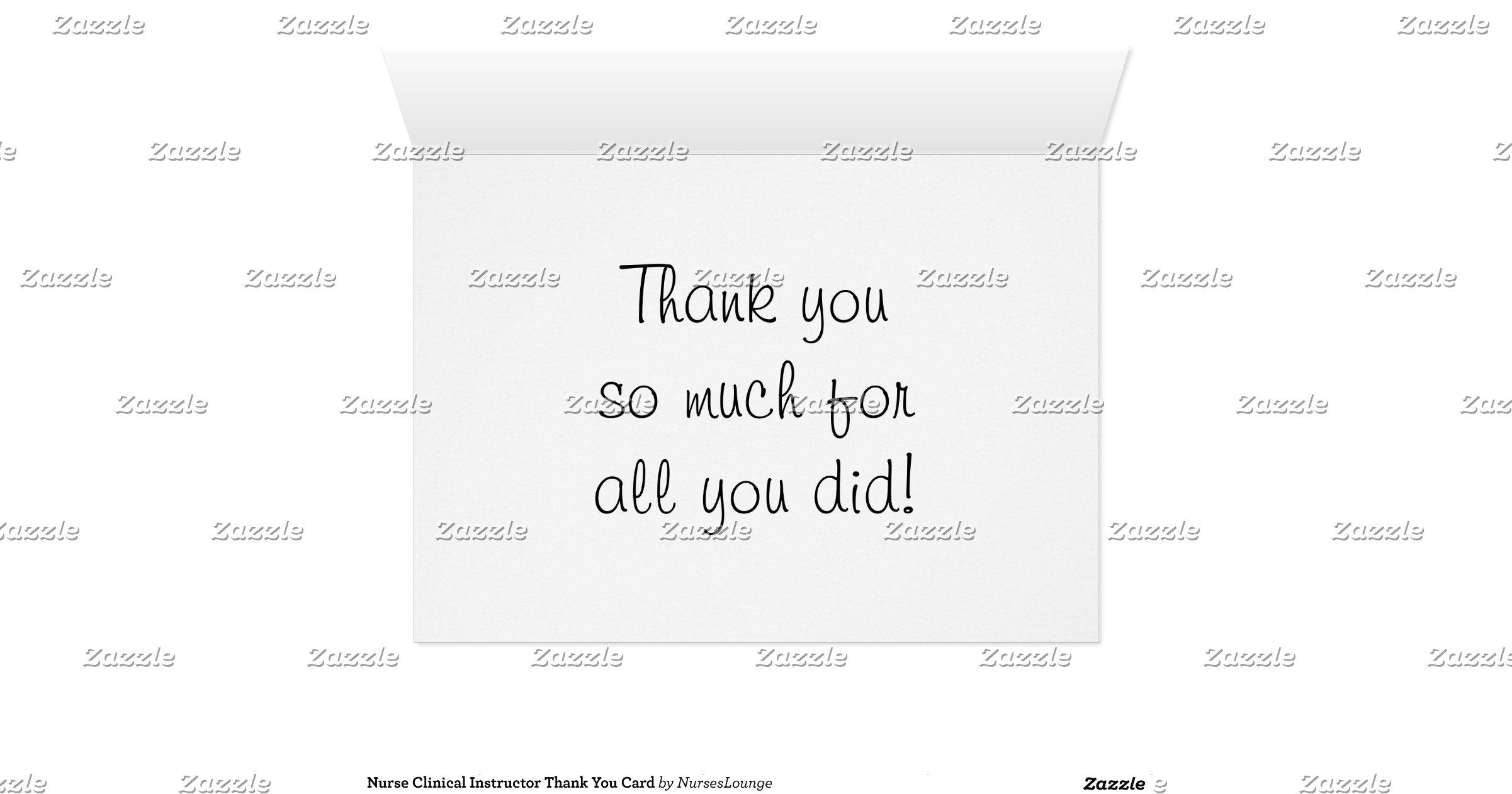nurse_clinical_instructor_thank_you_card