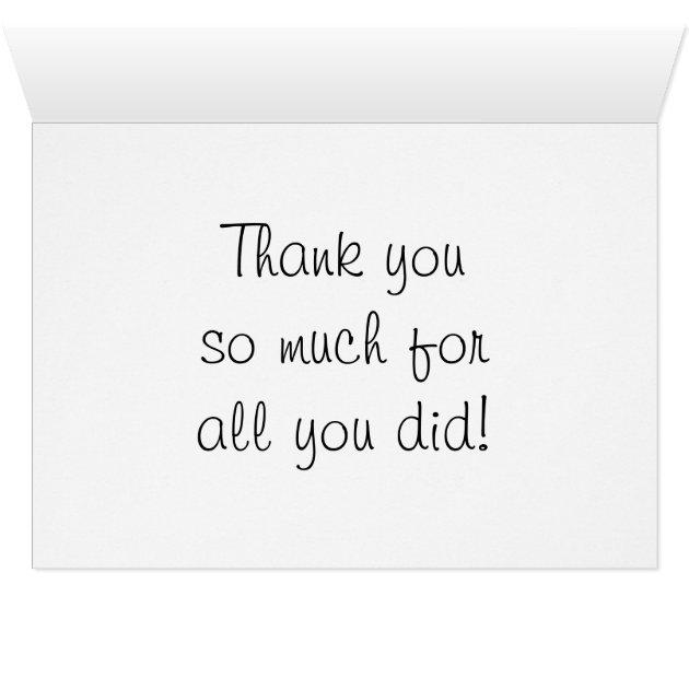 Nurse Clinical Instructor Thank You Card   Zazzle