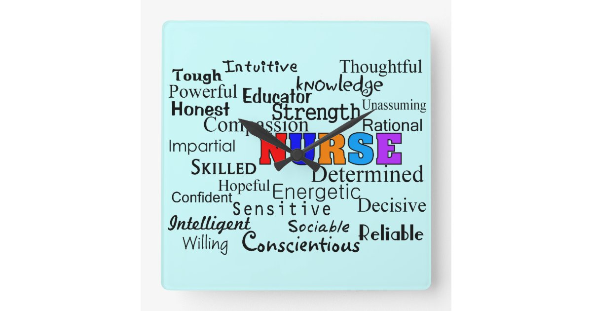 Nurse Clock Quot Words To Describe Quot Zazzle Com