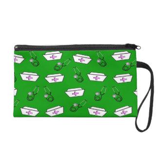 Nurse Clutch Bag Nurse Caps Bright Green