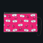 "Nurse Clutch Bag Nurse Caps Bright Pink<br><div class=""desc"">Nurse Clutch Bag,  nurse caps and stethoscopes design on a bright pink background.  Perfect for nurse graduation and nurse appreciation gifts.</div>"