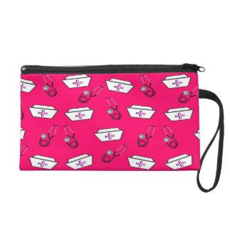 Nurse Clutch Bag Nurse Caps Bright Pink
