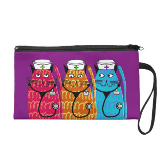 Nurse Clutch Bag Whimsical Cats #9