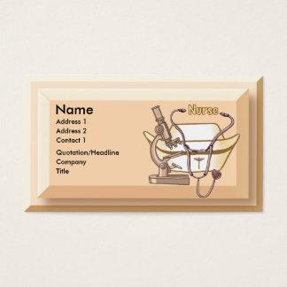 Nurse Collage beige business cards