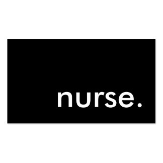 nurse. (color customizable) Double-Sided standard business cards (Pack of 100)