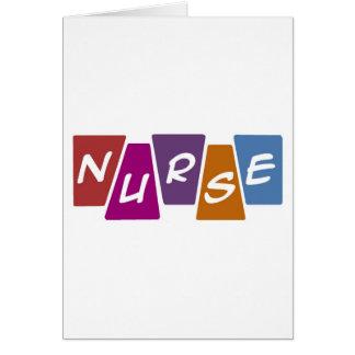 Nurse - Colorful Card