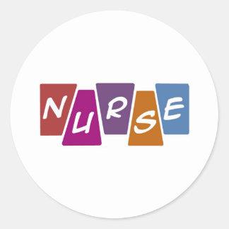 Nurse - Colorful Classic Round Sticker