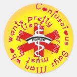 NURSE Confuscious Say Sticker