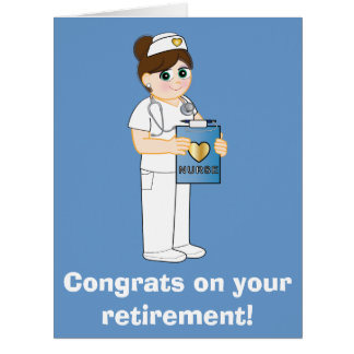 Nurse: Congratulations on Your Retirement Big Card