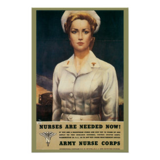 Nurse Corps Retro Poster