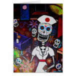 Nurse Day of the Dead Cards