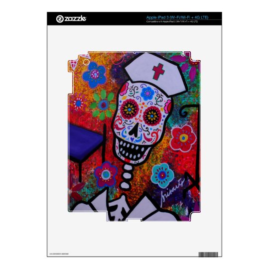 NURSE DAY OF THE DEAD IPAD SKIN
