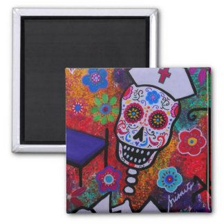 NURSE Day of the Dead Magnet