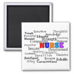 Nurse Describing Words Gifts 2 Inch Square Magnet