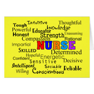 Nurse Describing Words Gifts Card