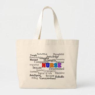 Nurse Describing Words Gifts Jumbo Tote Bag
