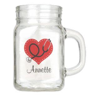 nurse doctor personalized gift mason jar mug