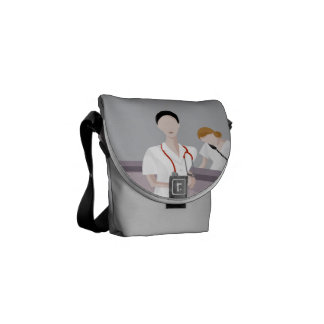 Nurse Doctors Mini Bag with CPR Instructions Messenger Bag
