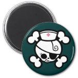 Nurse Dolly 2 Inch Round Magnet