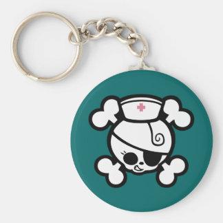 Nurse Dolly Basic Round Button Keychain