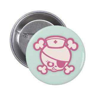 Nurse Dolly -Pink Pinback Button