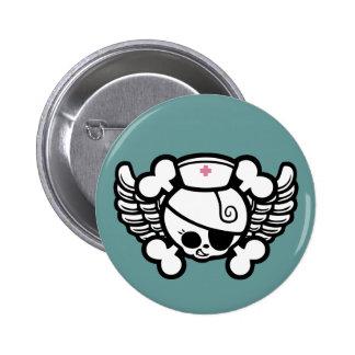 Nurse Dolly Wings Button